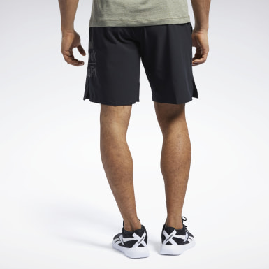Shorts CrossFit® Epic Base Grande com Marca Preto Homem CrossFit