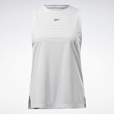 Women Cross Training Grey United By Fitness Perforated Tank Top