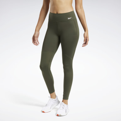 Women Hiking Green Reebok PureMove Tights