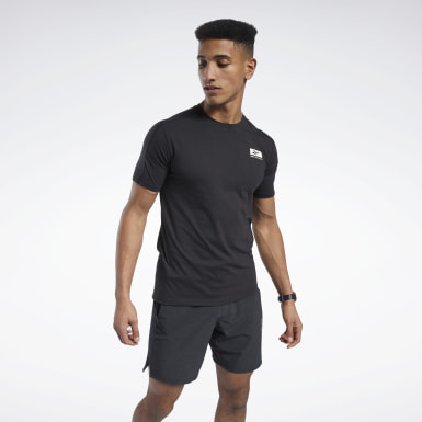 Men Fitness & Training Black Speedwick Graphic Move Tee