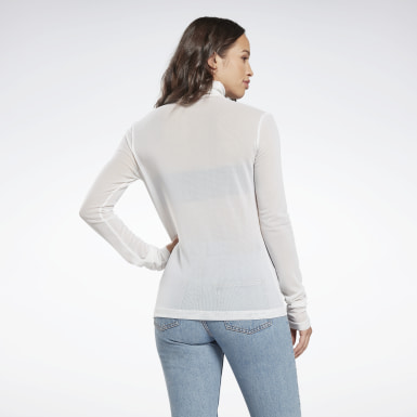 Women Classics White Classics Turtleneck Sweatshirt