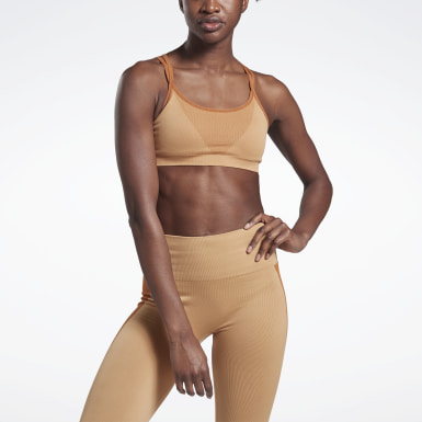 Women Yoga Beige VB Seamless Bra