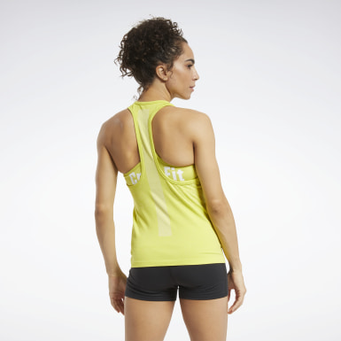 Women Cross Training Yellow Reebok CrossFit® Games MyoKnit Tank Top