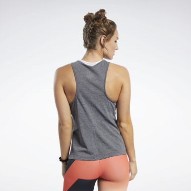 Dames Crosstraining Zwart Reebok CrossFit® ACTIVCHILL+COTTON Tanktop