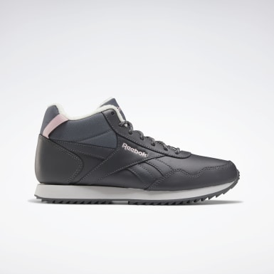 Women Classics Grey Reebok Royal Glide Mid Shoes