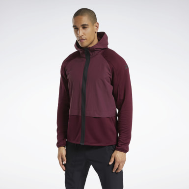 бордовый Худи Speedwick Performance Full-Zip