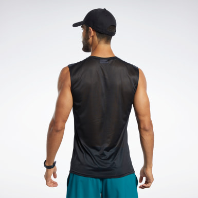Camiseta Workout Ready Tech Negro Hombre Trail Running