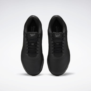 Men Walking Black Work N Cushion 4 Extra-Wide Men's Shoes