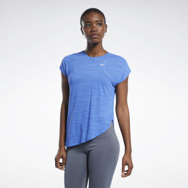 Women Hiking Blue Workout Ready ACTIVCHILL Tee