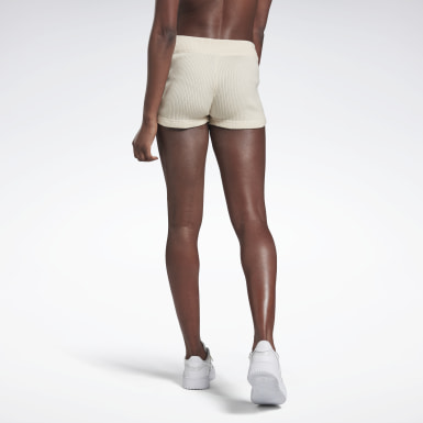 Shorty en maille VB Blanc Femmes Fitness & Training