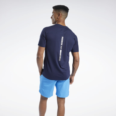 Men Yoga Blue Speedwick Graphic Move Tee