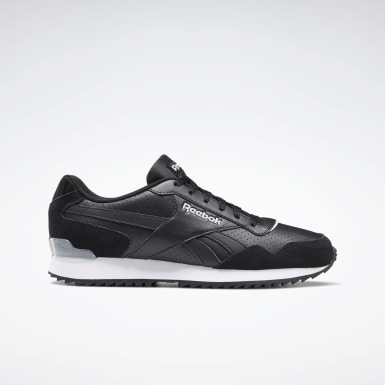 Men Classics Black Reebok Royal Glide Ripple Clip Shoes