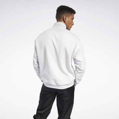 Men Outdoor White MYT Quilted Half-Zip Jacket