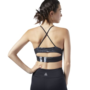 Top deportivo de bajo impacto Workout Ready Tri-Back Negro Mujer Fitness & Training