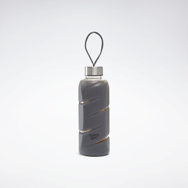 Running Black Tech Style Glass Water Bottle