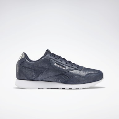Women Classics Blue Reebok Royal Glide LX Shoes