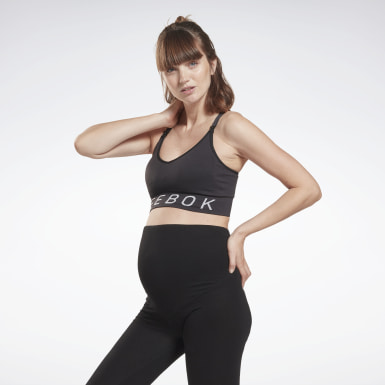 Frauen Studio Nursing Sports Bra Schwarz