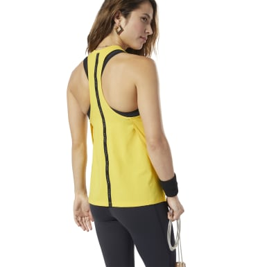 Women Studio Yellow LES MILLS® Poly Tank Top