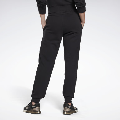 Women Training Black Reebok Identity French Terry Pants