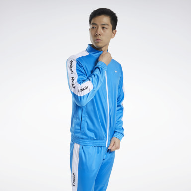 Men Fitness & Training Blue Training Essentials Track Jacket