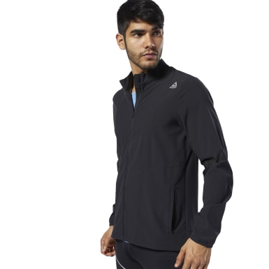 Men Running Black One Series Running Hero Jacket