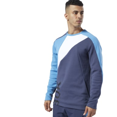 Men Fitness & Training Blue One Series Training Colorblock Sweatshirt