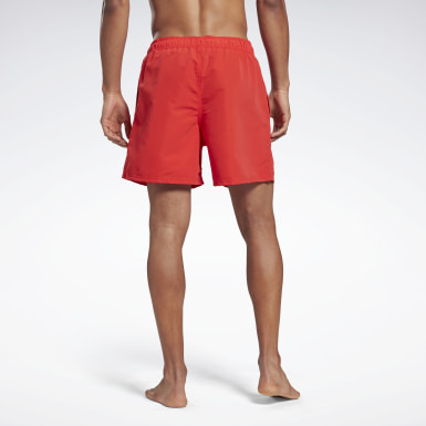 Men Swimming Red Reebok Yestin Swim Shorts