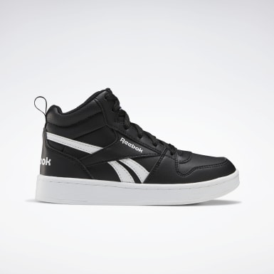 Boys Classics Black Reebok Royal Prime Mid 2 Shoes