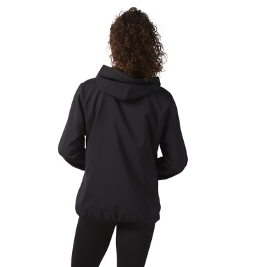 Women Fitness & Training Black Full Zip Hoodie
