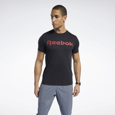Heren Crosstraining Zwart Graphic Series Linear Logo T-shirt