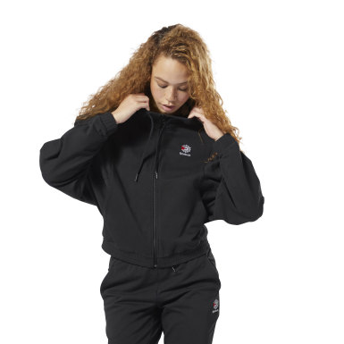 Women Classics Black Classics French Terry Full-Zip Hoodie