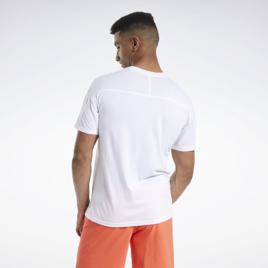 Men Yoga White Speedwick Graphic Move T-Shirt