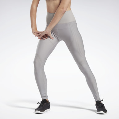 Kvinder Yoga Grey Studio Seamless Tights