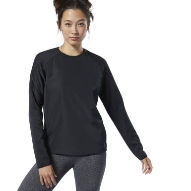 Women Fitness & Training Black Thermowarm Deltapeak Crew