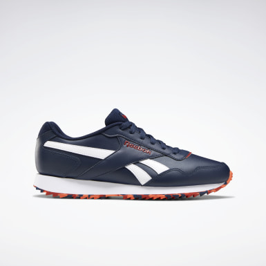Men Classics Blue Reebok Royal Glide Ripple Shoes