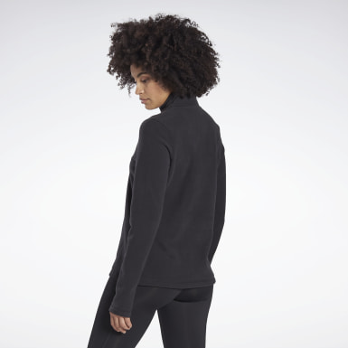 Top Outerwear Quarter-Zip Nero Donna Hiking