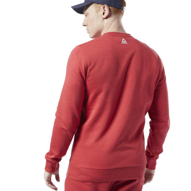 Sweat avec logo linéaire Training Essentials Rouge Hommes Fitness & Training