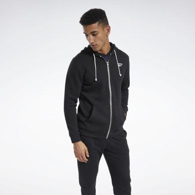 Men City Outdoor Black Training Essentials Fleece Zip Up Hoodie