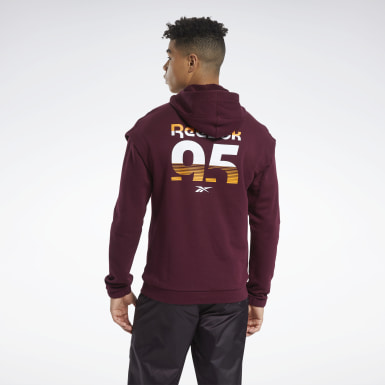 Men Fitness & Training Burgundy MYT Hoodie