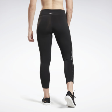 Kvinder Yoga Black Studio Lux 7/8 Tights 2.0 - Reebok Read