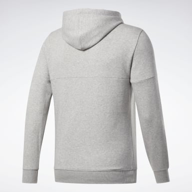 Men Fitness & Training Grey Training Essentials Logo Hoodie