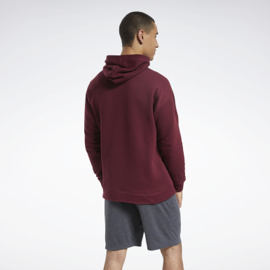 Men Fitness & Training Burgundy Training Essentials Mélange Hoodie