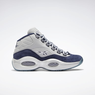 Men Classics Blue Question Mid Men's Basketball Shoes