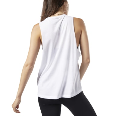 Musculosa Graphic Series Burn Limits Muscle Blanco Mujer Fitness & Training