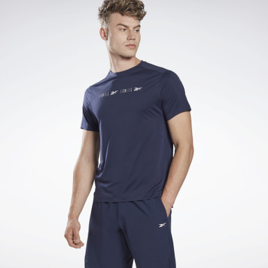 Camiseta LES MILLS® Perforated Azul Hombre Ciclismo
