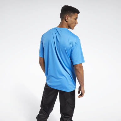 Männer Fitness & Training MYT T-Shirt Blau