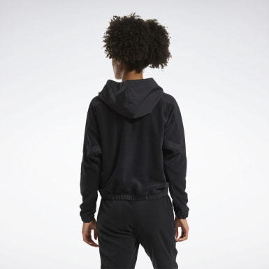 Kvinder City Outdoor Black MYT Quarter-Zip Hoodie
