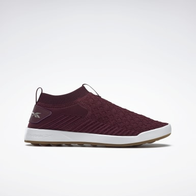 Women Outdoor Burgundy Reebok Ever Road DMX Slip-On Shoes