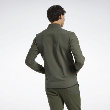 Felpa Thermowarm Deltapeak Quarter-Zip Verde Uomo Hiking