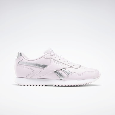 Women Classics Pink Reebok Royal Glide Ripple Shoes